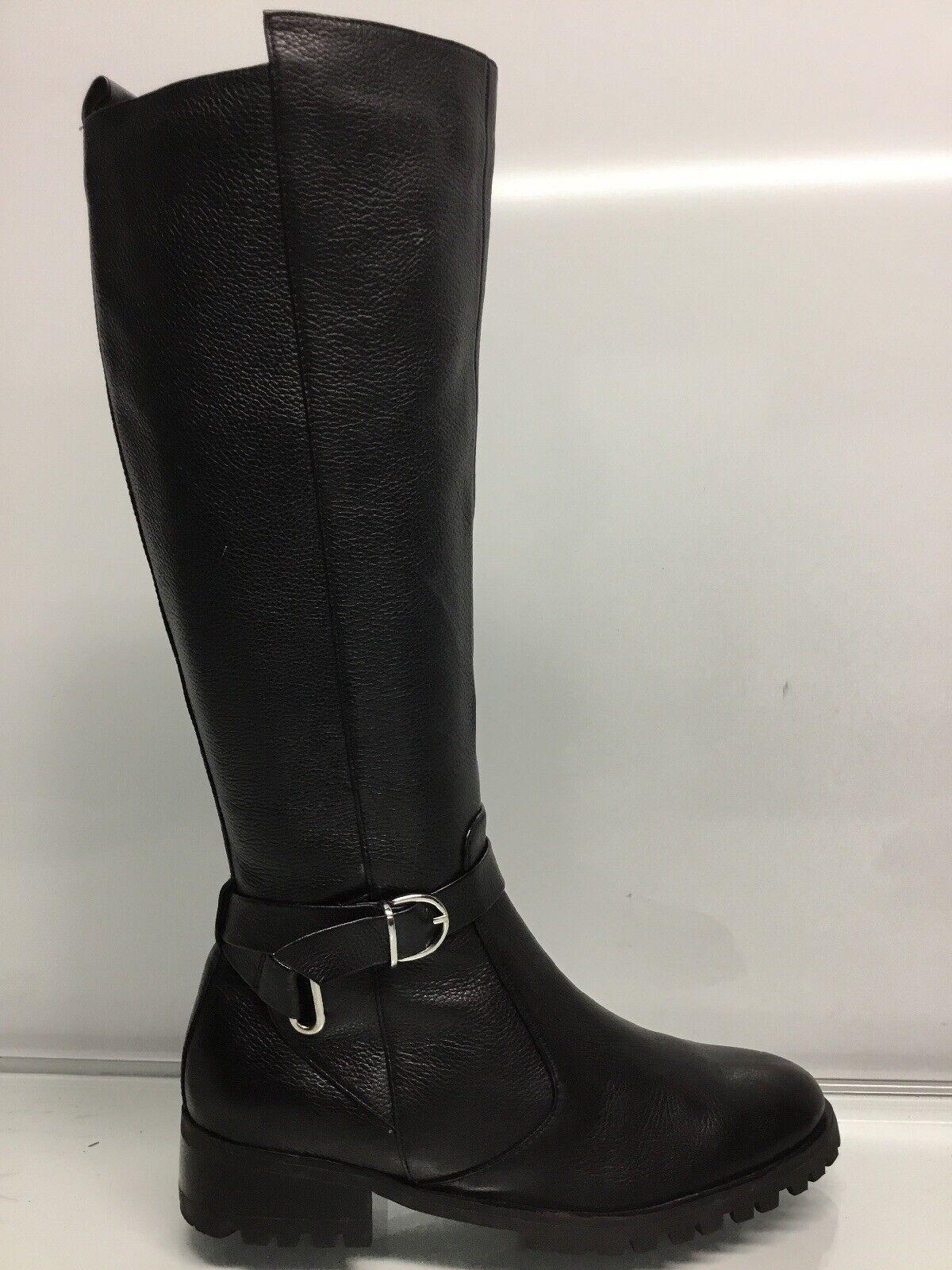 Tesori Riding Boots Valancia Black Leather Tall Size 6M.*