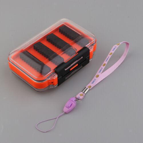 Portable Double Side Waterproof Fly Fishing Lure Bait Hook Case Box Waterproof