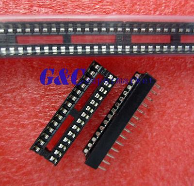5PCS  28-Pin DIL DIP IC Socket PCB Mount Connector NEW GOOD QUALITY