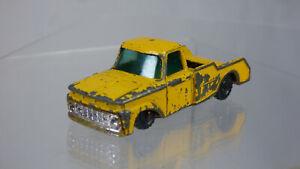 VINTAGE HUSKY N. 35 DIECAST FORD GIALLA CAMION CAMPER AUTO giocattolo per restauro