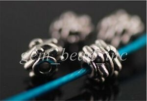 100pcs-Charms-Tibet-Silver-Crafts-Jewelery-Findings-Spacer-Rondelle-Beads-5x4mm