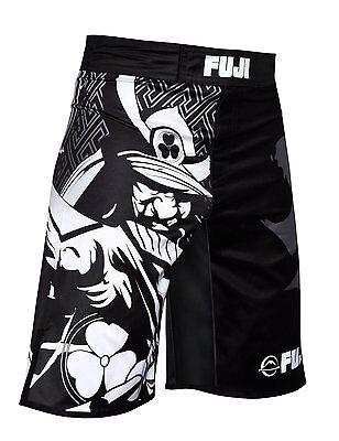 Fuji Obsidian MMA BJJ No Gi Performance Competition Fight Board Shorts Black