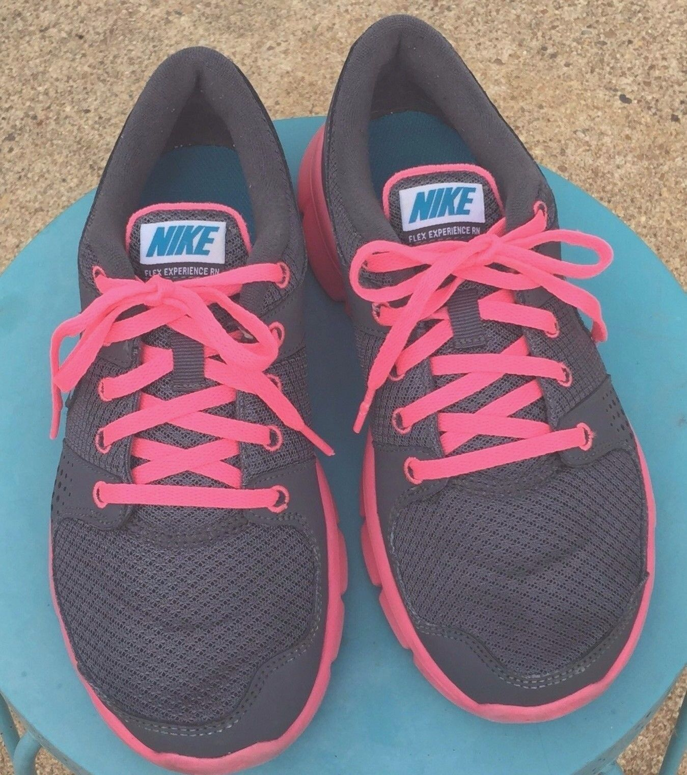 NIKE Flex Experience RN Womens Sneakers Running Yoga  Mesh Gray Pink  6.5 Special limited time