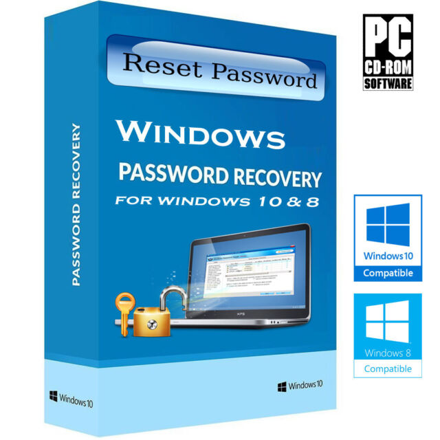 Password Recovery Reset Remove Forgot for Windows 10 and 8 1 Disc CD