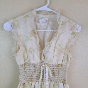 Vintage-1970s-Prairie-Boho-Festival-Maxi-Dress-Terri-Juniors-California-Size-5