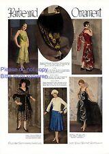 Farbe und Ornament 1 Seite Fotoabbildungen von 1929 Mode 20er Jahre Kleider