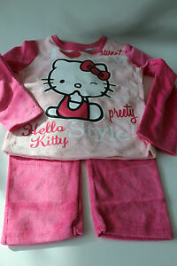 velours-enfants-vetements-de-nuit-Lot-pyjamas-fille-Hello-Kitty-Rose-104-140