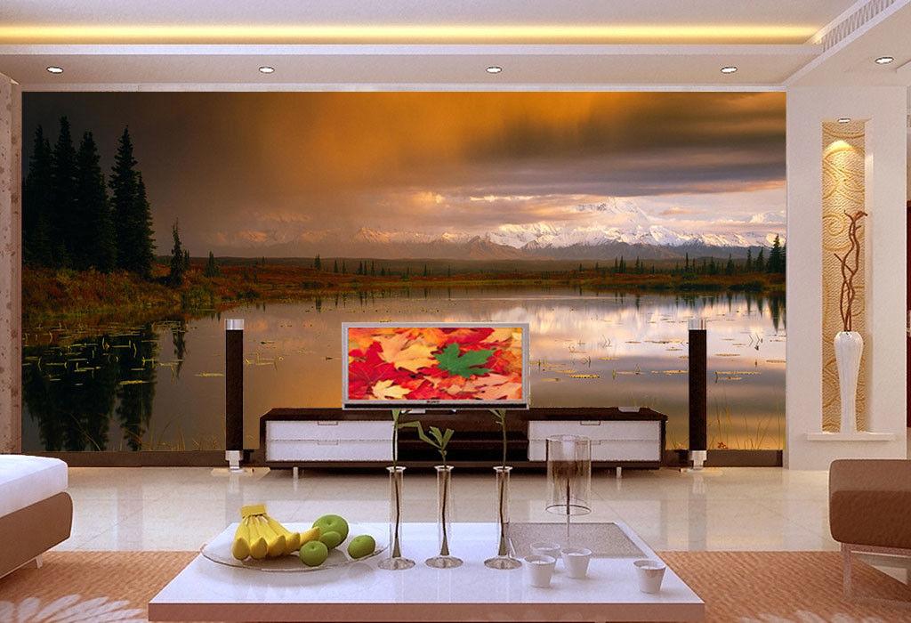 3D Sky Grass Lake 911 Wallpaper Mural Paper Wall Print Wallpaper Murals UK Lemon