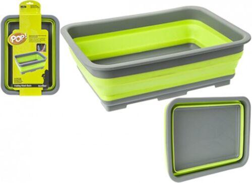 - Purple 37 x 28 x 12cms Pop Folding Wash Basin//Bowl Blue or Lime Available
