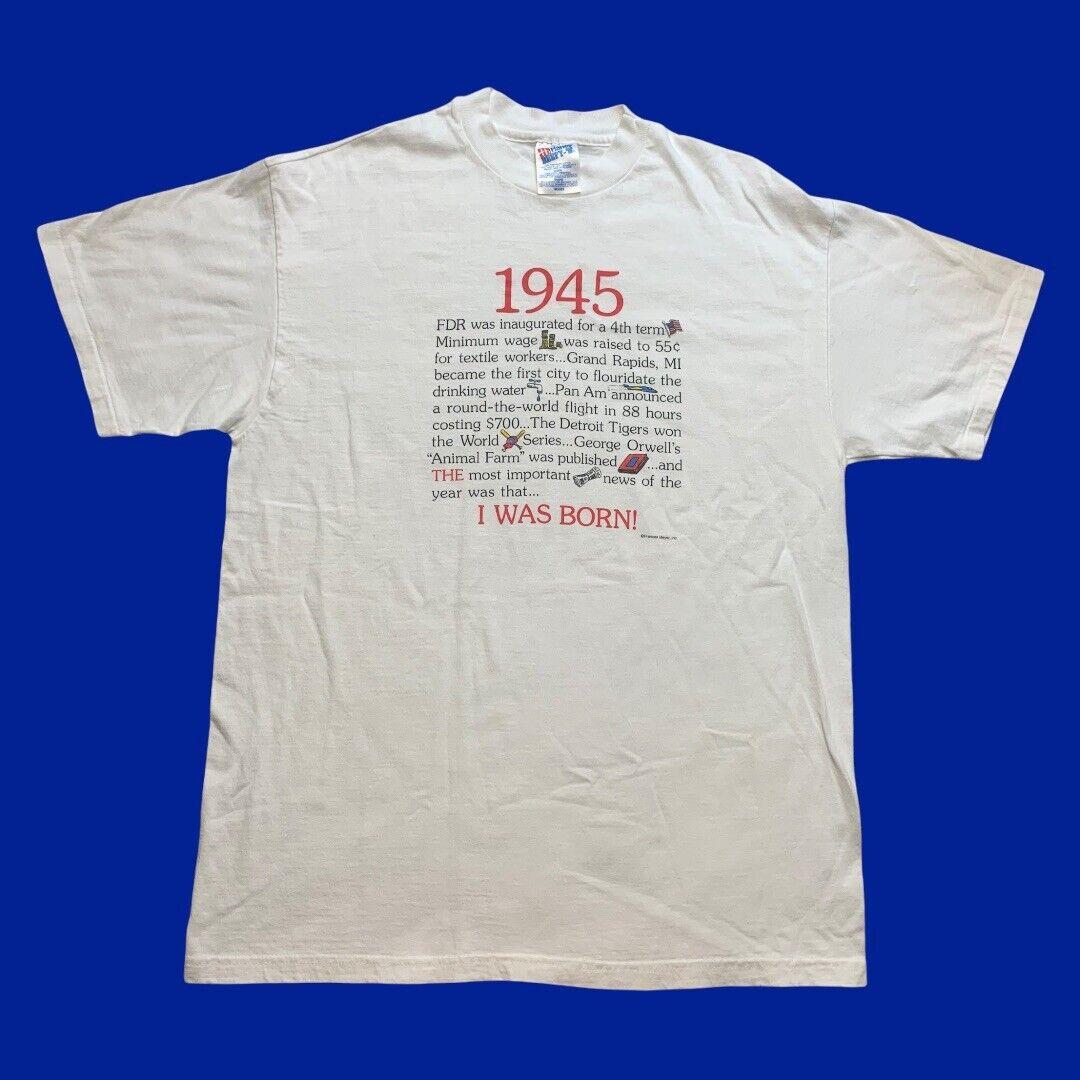 Vintage In 1945 I Was Born Informational T-shirt … - image 1