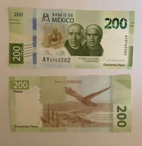Mexico 2019 New Design $200 Pesos Banknote