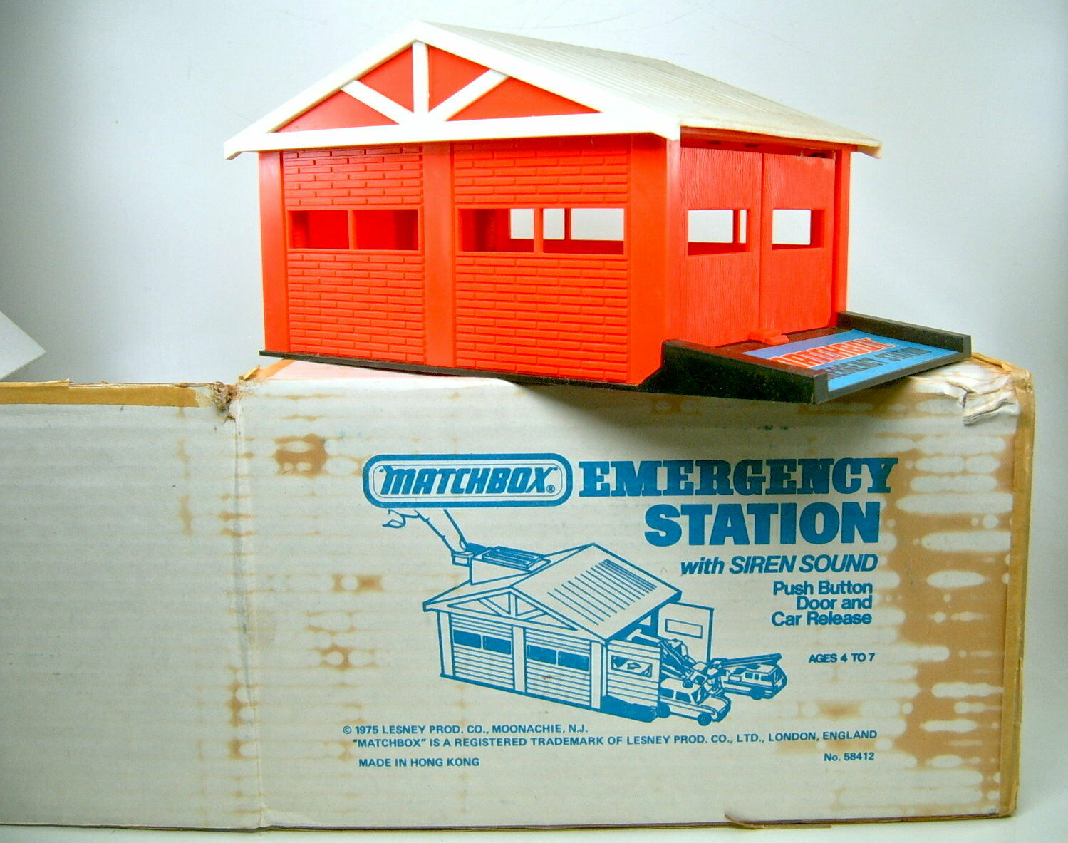 MATCHscatola Emergency Station USA 1975 COME NUOVO IN scatola