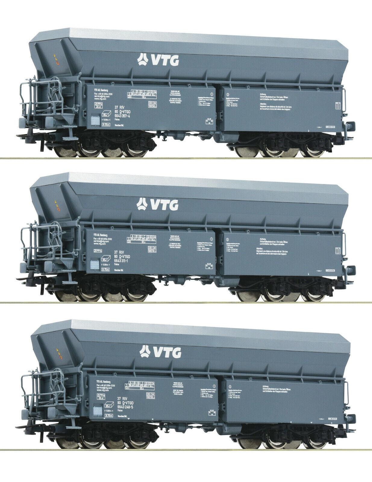 Roco ho 76092 - 3 unid set  selbstentladewagen, VTG, tipo de construcción, falns novedad 2019