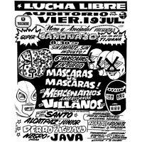 Lucha Libre Flyer - Custom T-shirt - [a44] - Adult Sizes S Thru 5x - Santo
