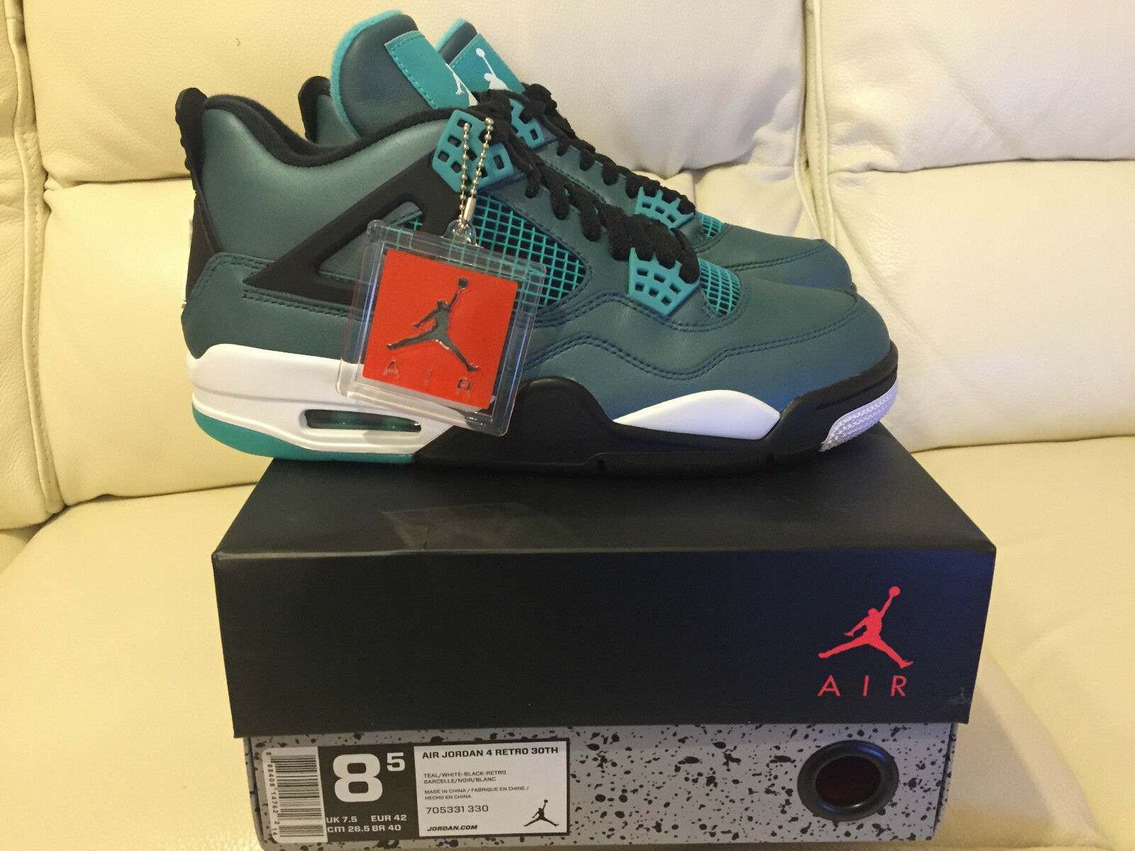 2018 NIKE AIR JORDAN 4 RETRO TEAL Taille 5.5 6 10 11 12 13 NEW IN HAND NOW