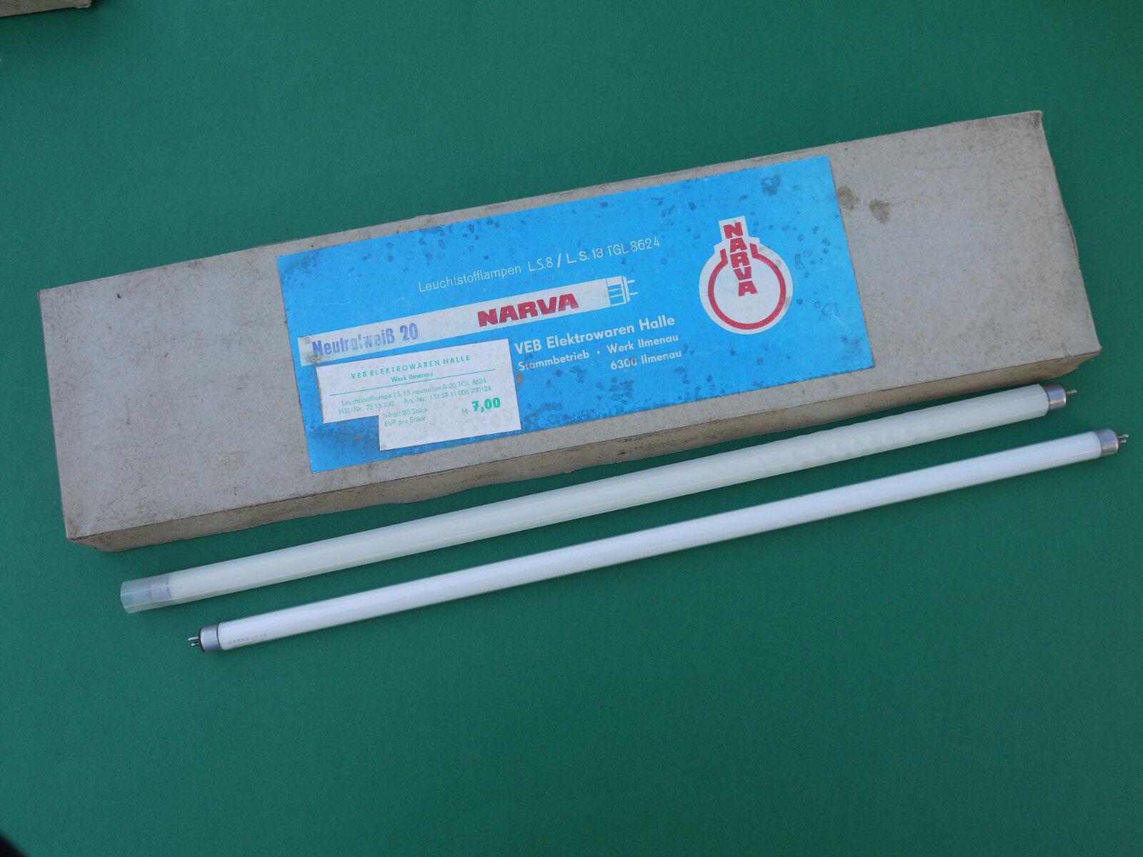 20x DDR Narva LS 13 neutralweiß Leuchtstoffröhre Leuchtstofflampe Neonröhre weiß