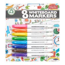 8 White Board Marker Colour Pen Set Dry Wipe Markers Bullet Tip Drywipe Pens