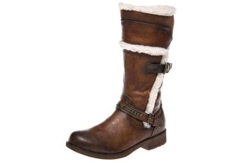 Mustang Shoes Bottes Dans Grandes Tailles Châtaigne 1295-605-301 grandes Chaussures Femmes