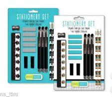 CAT KITTEN STATIONERY SET pens pencils ruler eraser sharpener School Uni ANIMAL