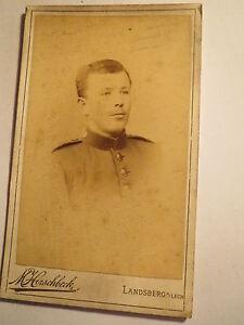 Landsberg-a-Lech-Soldat-in-Uniform-Regiment-Nr-1-Portrait-CDV