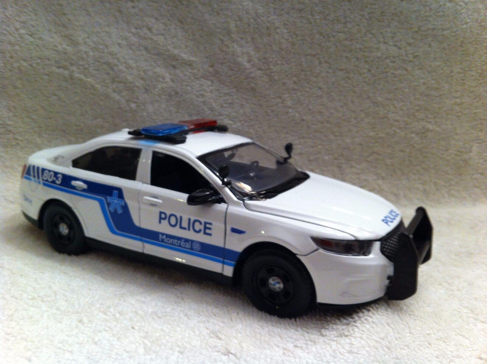 1/24 Escala Modelo Diecast Montreal Canadá de Policía con luces de trabajo/Sirena