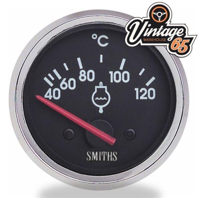 Smiths Oldtimer 52mm Wassertemperatur Anzeige Chrom-Blende Rennen Rally Custom