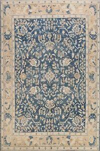 Geometric Floral Khotan Oriental Area Rug Wool Hand-knotted Vegetable Dye 9'x10'