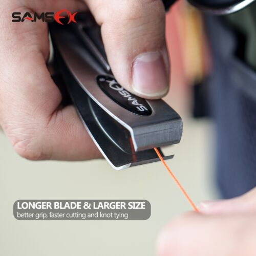 SAMSFX Quick Knot Tool 6 in 1 Fly Fishing Clippers Line Nipper Tying w// Zinger