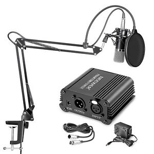 Neewer-NW-700-Microphone-with-Stand-and-48V-Phantom-Power-etc-6-in-1-Kit