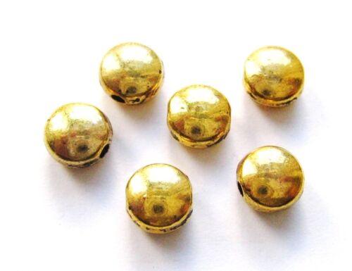 Metallperlen Metallspacer Buttons 6mm gold 20//100 Stück SERAJOSY