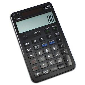 mts-fn-X88-OFFICE-Taschenrechner-XL-Tisch-edel-12-stellig-exklusiv-Buero-schwarz