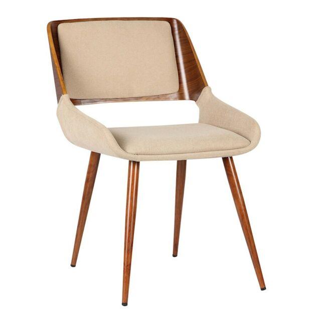 Armen Living Panda Dining Chair, Walnut/Brown - LCPNSIWABR