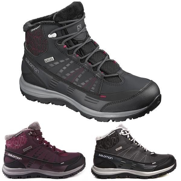 Salomon Kaina Cs Waterproof 2 Isotherme Chaud Hiver Chaussures Bottes Pour Femme Toutes Tailles