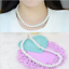 8MM-Ladies-White-Fashion-South-Sea-Shell-Pearl-Round-Beads-Necklace-18-034-AAA