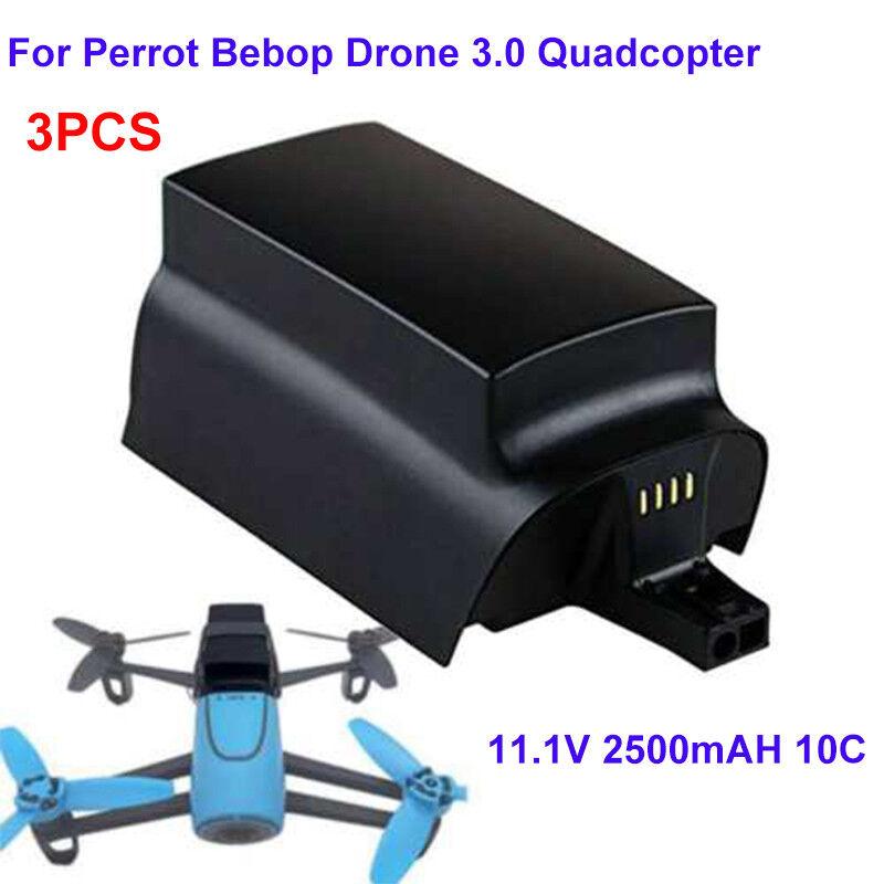 3X for Parrojo Bebop Drone 3.0 Helicopter 11.1V 2500mAh 10C Batería de alta capacidad