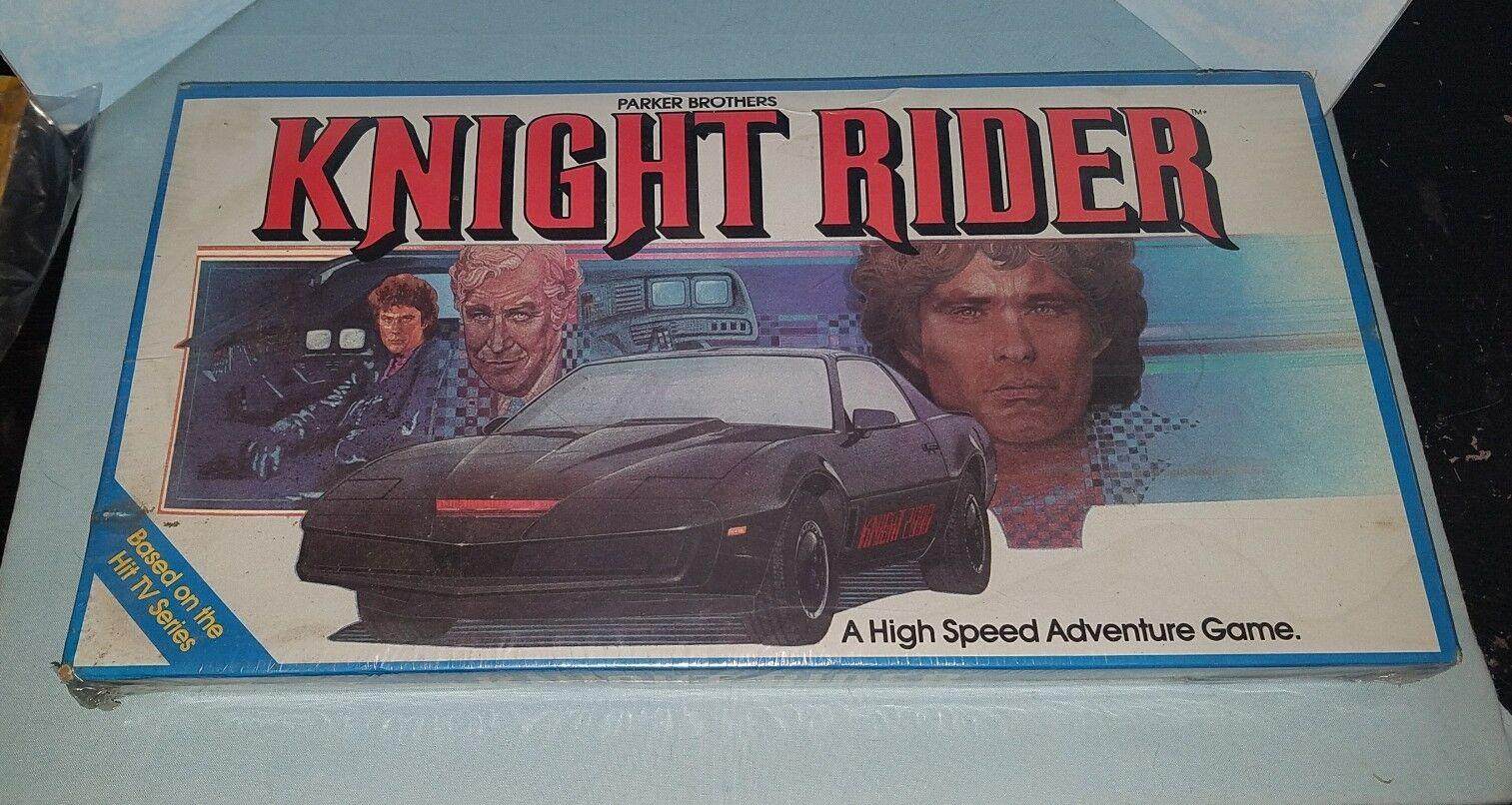 Knight rider 1983 parker brothers brettspiel   in plastik versiegelt