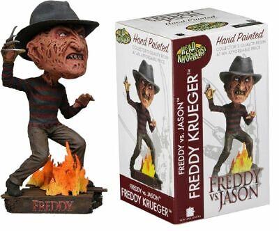 FREDDY KRUEGER Figura RESINA Head Knocker 19cm Freddy Vs Jason Ufficiale NECA