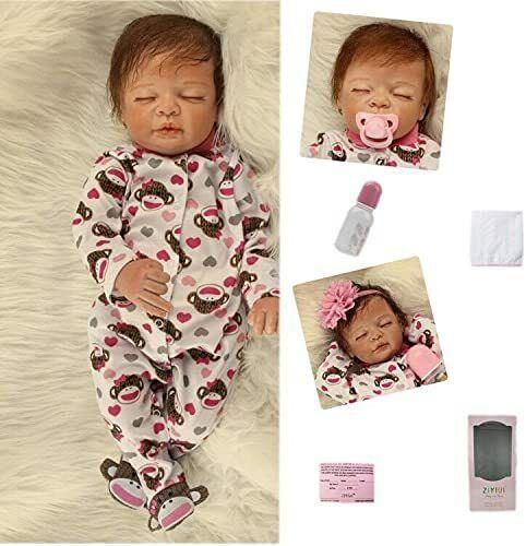 "20"" Handmade Dolls Real Life Like Realistic Newborn Baby Girl Doll + Clothes"