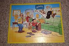 Vintage Tray Puzzle BLONDIE & DAGWOOD  comic strip character Jaymar  music