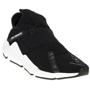 139ae0e09c52d Image is loading New-MENS-Y-3-BLACK-REBERU-TEXTILE-Sneakers-
