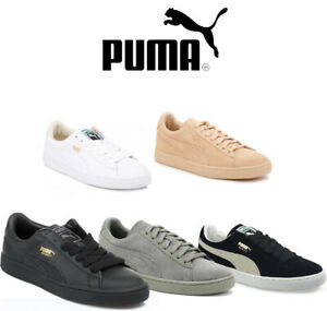 puma mens classic trainers 5 colours leather or suede