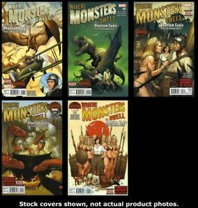 Where-Monsters-Dwell-2nd-Series-1-2-3-4-5-Complete-Set-Run-Lot-1-5-VF