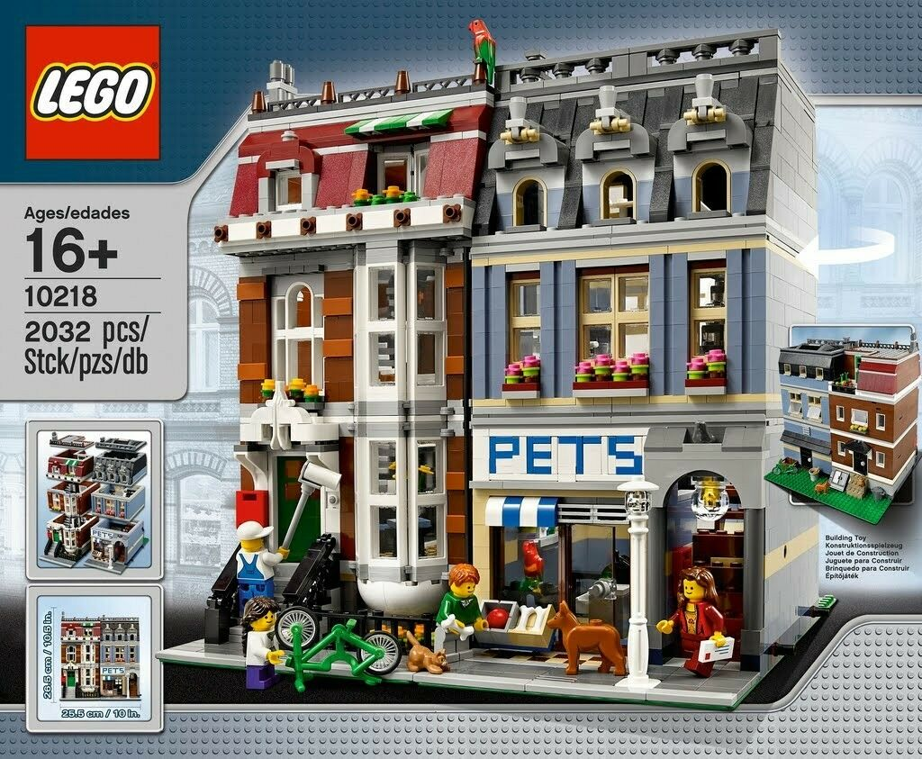 Retraite  Lego Pet Shop 10218 Brand New Factory sealed retirouge Building Set
