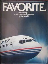 11/1982 PUB 3 PAGES BOEING 737 AIRLINER AIRLINE PASSENGER COCKPIT ORIGINAL AD
