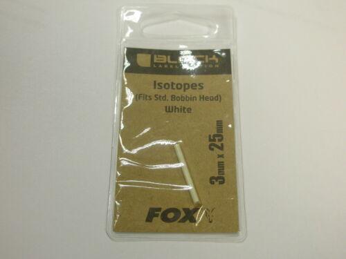 Fox Black Label Isotope 3x25mm Weiß Karpfen Angelzubehör