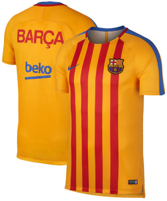 Destruir riñones bibliotecario  Nike Dri Fit FC Barcelona Dry Squad Team Training Top men shirt jersey  soccer PE   eBay