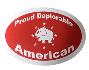 Trump Deplorable American decal window bumper sticker