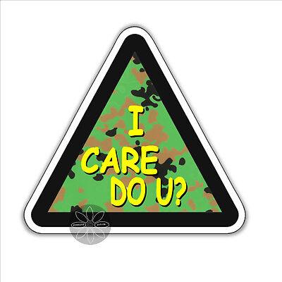 I care do you u political vinyl bumper sticker Melania politics kindness 87mm