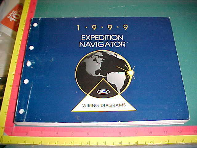 1999 Ford Expedition Lincoln Navigator Wiring Diagrams Manual Vgood Used