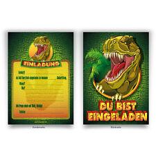 """Einladungen (8 Stück) """"Dinosaurier"""" zum Geburtstag Einladungskarten Karten"""
